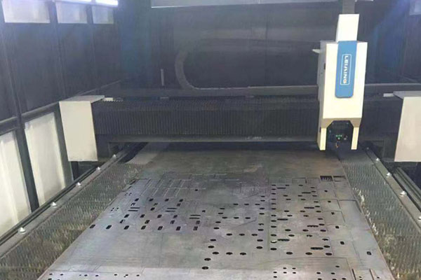 Steel laser cut machine applied in food machinery industry